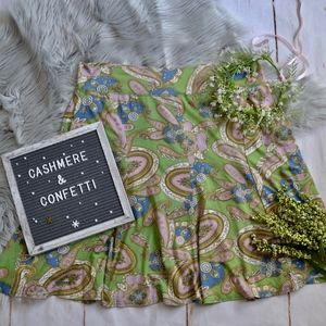 CAbi A-line Pull on Paisley Skirt NEW NWT XL D2